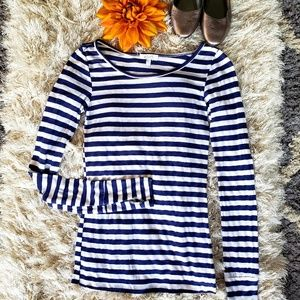 dELiA*s striped long sleeve top